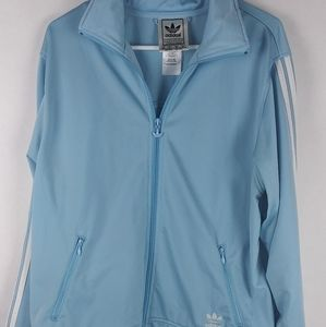 Adidas Baby Blue track suit jacket mens size XL